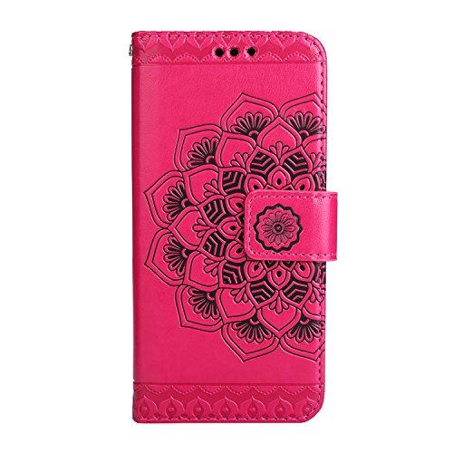 Lomogo Chiusura Porta Samsung Cover Oro Custodia Carta Di Rilievo Pelle Caldo Galaxy S8 Fiore s8plus Credito s8 Per Con Portafoglio Magnetica In Rosa G955 Hoha23599 Plus rqr7Tn