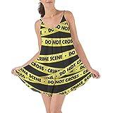 Crime Scene Tape Beach Cover Up Dress - M