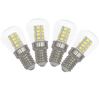 3W E14 LED Frigorífico Congelador Bombillas Pack de 4 Blanco Frío ...