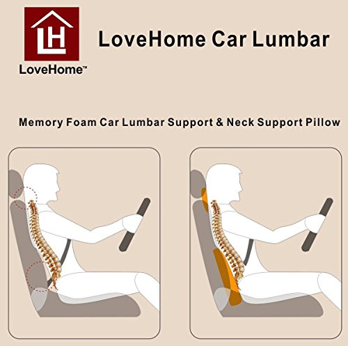 Lovehome Car Lumbar Support Back Cushion And Car Neck