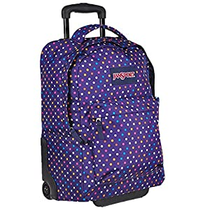 "JanSport SuperBreak Wheeled Backpack - 19"" (Purple Spot-O-Rama)"