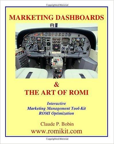 Book Marketing Dashboards & The Art Of Romi [2008] (Author) Claude P. Bobin