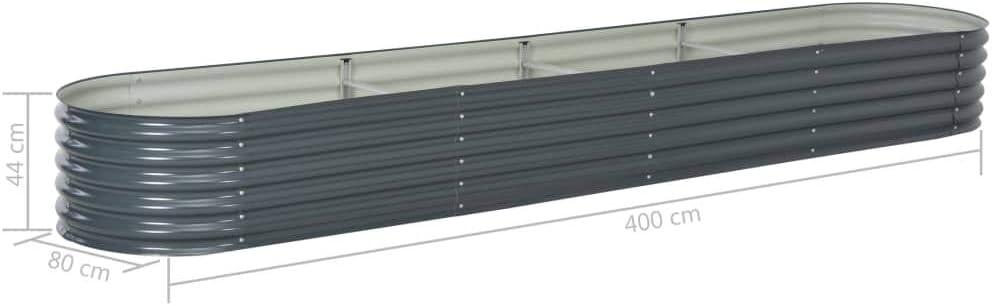 vidaXL Hochbeet Stahl Silbern 80x80x81 cm Gem/üsebeet Pflanzbeet Pflanzkasten