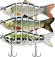 TRUSCEND Segmented Swimming Lure for Bass Pike Trout Selmon Striper, 3D Multi Jointed Swimbaits, Bass Fishing