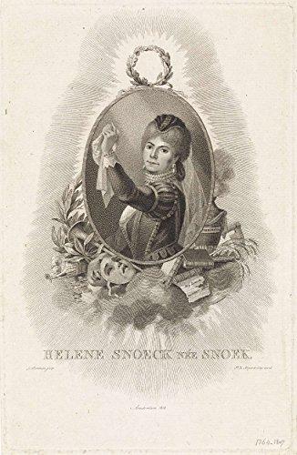 Classic Art Poster - Portrait of Hélène Snoeck (born Pike), Ludwig Gottlieb Portman, 1808 13 x 19