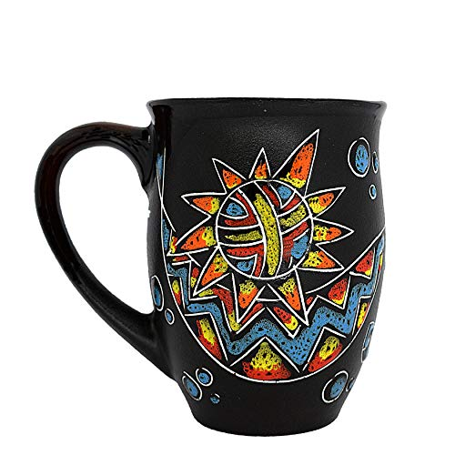 Pottery Coffee Mug as a Unique Memorial Day Gift for Mom Dad Women Men Him Her - Cosmic Esoteric (16.9 fl oz, 500 ml) - Cupscho