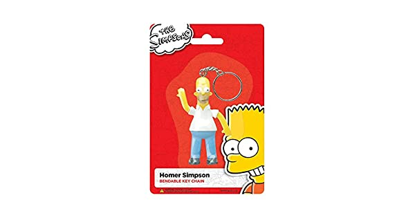 Amazon.com: 3.5 inch Animated Bendable Homer Simpson dibujos ...