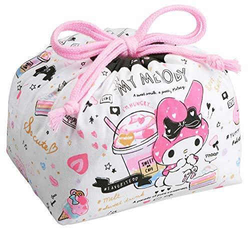 OSK Sanrio Bolsa del Almuerzo Bolsa con cordón Lienzo de agoldón KB-1 Importación de Japón (My Melody)