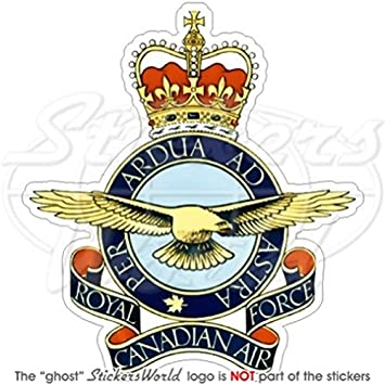 Royal Canadian Air Force Emblem Shaped Sticker Decal Logo Canada Province Military