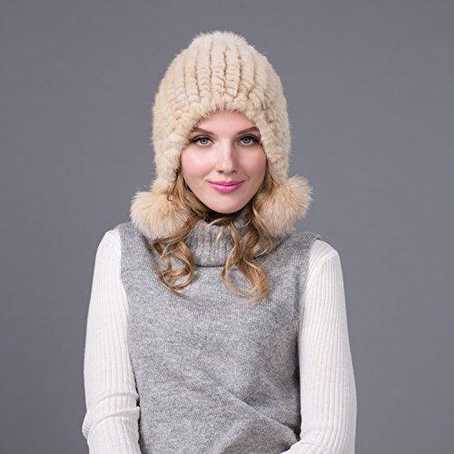 L 58-60cm blanc Wuyulunbi@ Chapeaux tricotés en Hiver Chapeaux et Casquettes