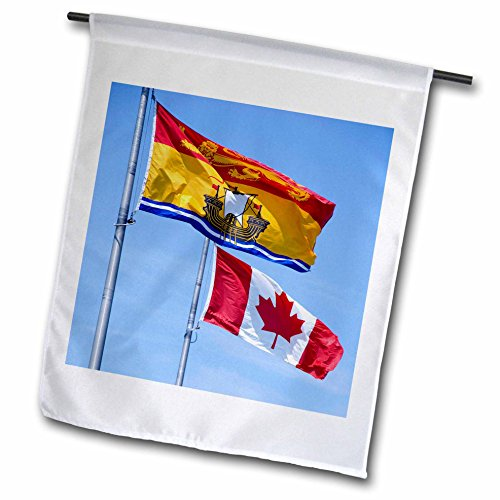 3dRose Canada, New Brunswick. Flag - Cindy Miller Hopkins - Garden Flag, 12 by - Square Brunswick New