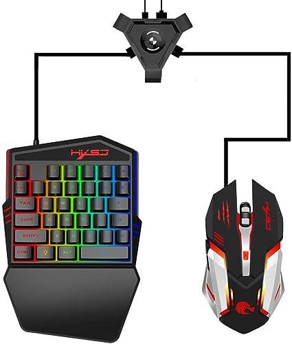 popchilli P5 Adaptador de Teclado y ratón convertidor Gaming ...