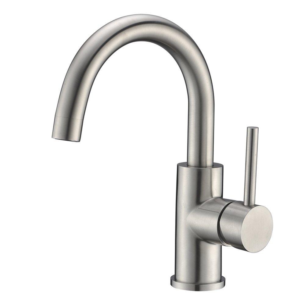 Sink Bar Faucet in Stainless Steel, Prep Sink Faucet, Small Kitchen Sink Faucet, Bathroom Faucet