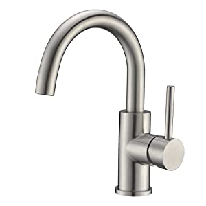 Sink Bar Faucet in Stainless Steel, Prep Sink Faucet, Small Kitchen Sink Faucet, Bathroom Faucet