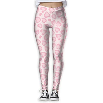 a53a1cbf7f47 Image Unavailable. Image not available for. Color: Women's Pink Leopard  Print Printed Yoga Pants ...