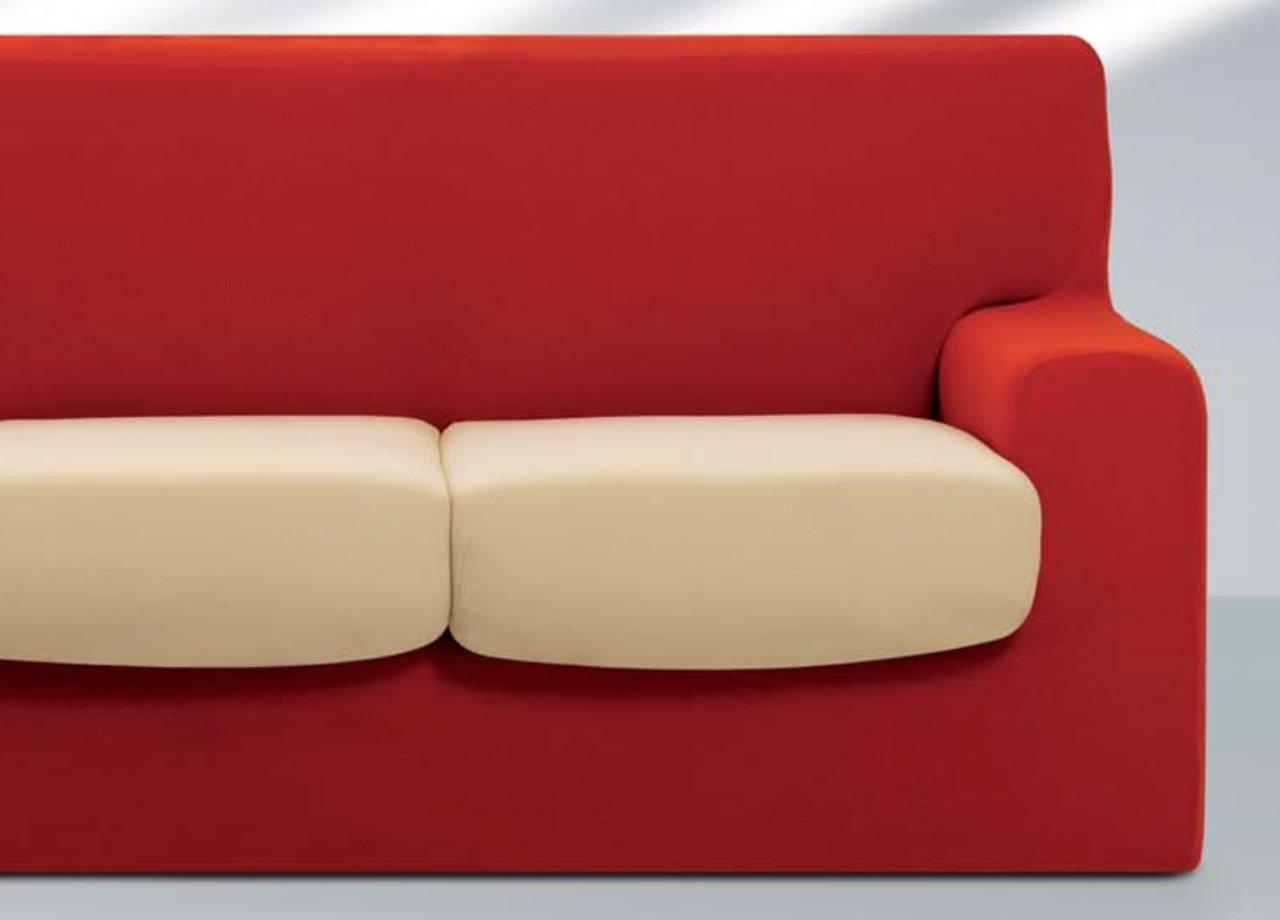 Salvadivano Copriseduta Sofa Cover In Tinta Unita 2 Posti Arancio 120 Capitan Casa