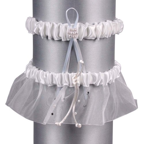 Beverly Clark Celebrity Collection, Garter Set, White ()
