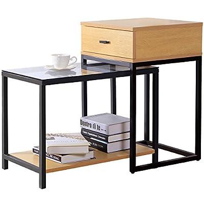 Mesas laterales con cajón