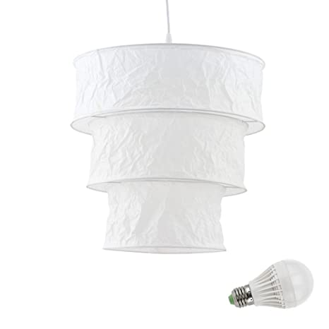 papel de arroz luz colgante 5 vatios LED colgando ...
