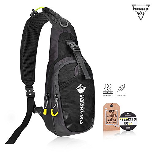 Forbidden Road Sling Bag Hiking Backpack Daypack Camping Shoulder Waterproof Nylon Durable Soft Foldable for Traveling Mountain Climbing Cycling Outdoor Activities - Multi Colors