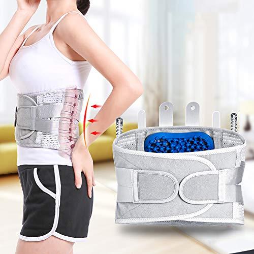 Cinturones lumbares cinturón soporte con cuatro cojines de alivio inmediato para el dolor de espalda,hernia de...