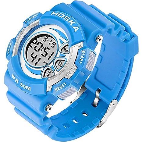 Yijia estudiante relojes electrónicos reloj de pulsera para niño & niña Sport Digital reloj, Fashion