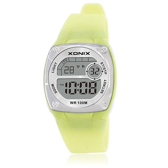 Niña Reloj led,100m resistente al agua Relojes digitales Luminoso Con reloj de alarma 24 horas Cronómetro Piscina Calendario Multifunción Niña-F: Amazon.es: ...