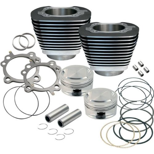 S&S 95 in. Twin Cam Black Big Bore Kit for Harley Davidson 1999-2006 Twin Cam m