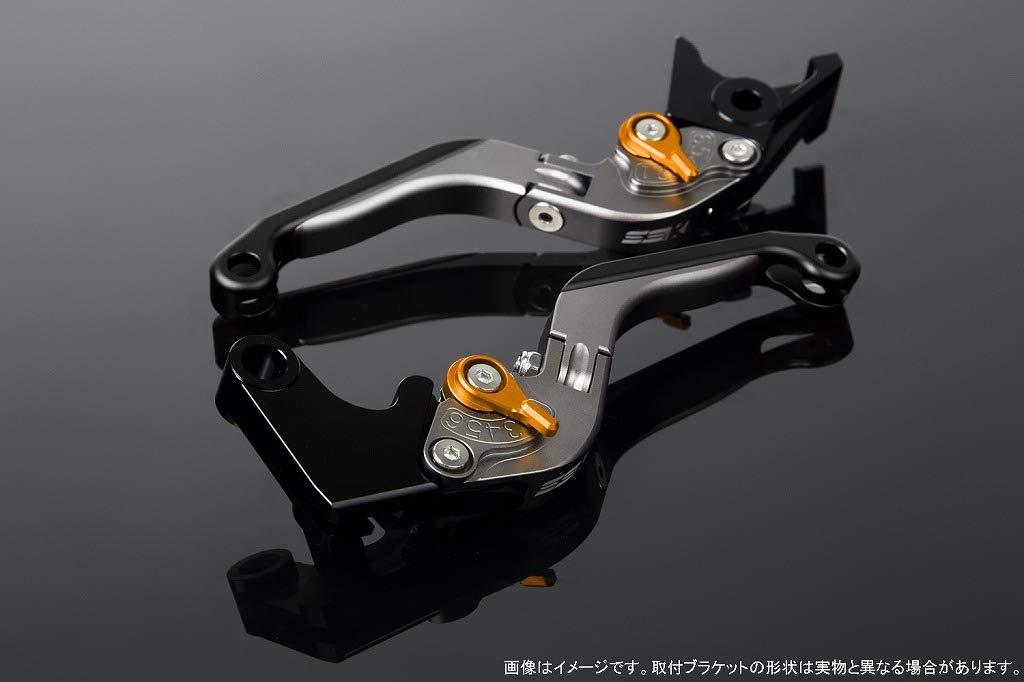 SSK アジャストレバー 可倒延長式 レバー本体カラー:マットチタン アジャスターカラー:マットゴールド エクステンションカラー:マットブラック CB1000R SC60 CBR1000RR SC57 2004-2007 LVGM011TM-GDBK B07MXFF691