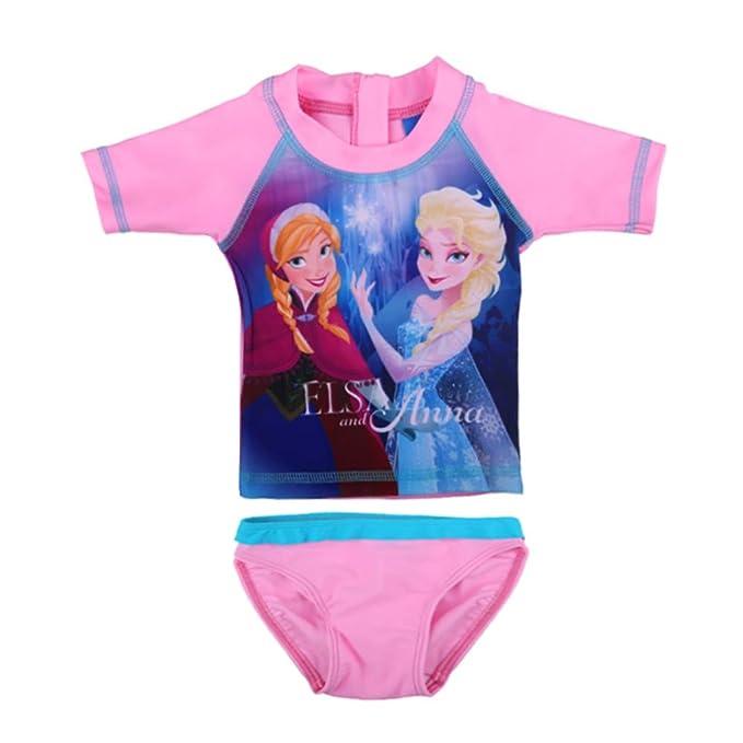 Disney niña El Reino de Hielo, Frozen, Elsa e Anna Traje de ...
