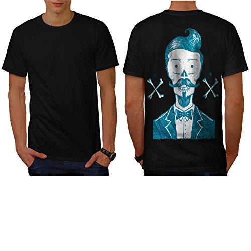 [Skull Hipster Body Costume Art Men NEW S T-shirt Back | Wellcoda] (Pregnant Basketball Costume)