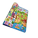 QIANDUOO Baby Kid Toddler Play Crawl Picnic Waterproof Mat Double Sides 200*180cm