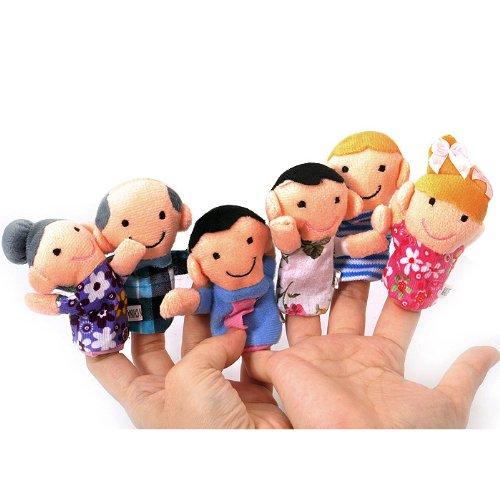 7 opinioni per TOOGOO(R) Carino 6pz burattini familiari- Persone Include mamma, papa', nonno,