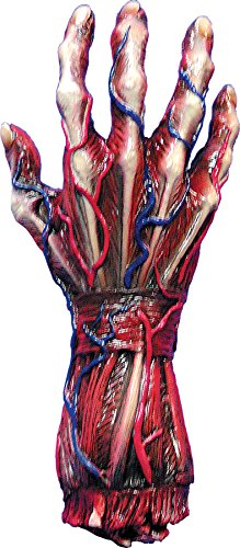 UHC Scary Skinned Alive Right Hand Prop Horror Party Latex Halloween -