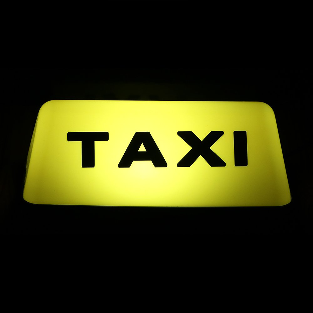 Car-styling Car Cab Top Lamp LED Yellow Taxi Roof Light Waterproof Signal Lamp