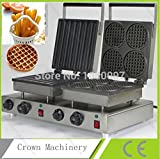 Double heads Cute design electric waffle maker & Stainless steel Spain churros machine for sale