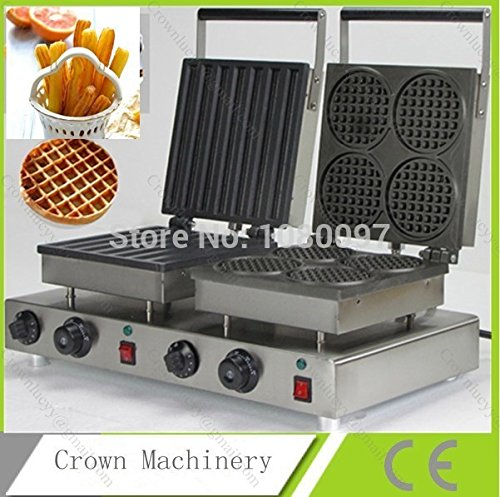 Double heads Cute design electric waffle maker & Stainless steel Spain churros machine for sale by ANGELGARDEN
