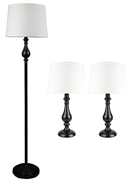 Urbanest mckinley 3 piece table and floor lamp set in oil rubbed urbanest mckinley 3 piece table and floor lamp set in oil rubbed bronze with aloadofball Images
