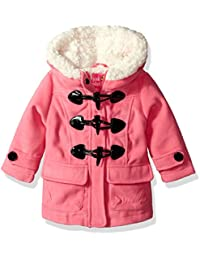 Baby Girls Wool Toggle and Zip Front Coat