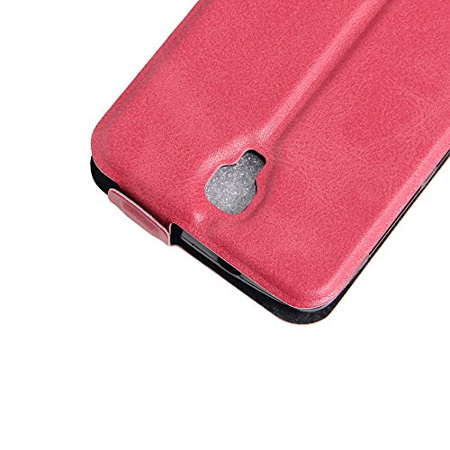 Para ZTE Blade L5 / L5 Plus Caso compacto de piel PU, arriba-abajo piel abierta PU Funda de piel con ranura para tarjeta y función de protección completa con cierre magnético Caja a prueba de golpes p Rosa caliente