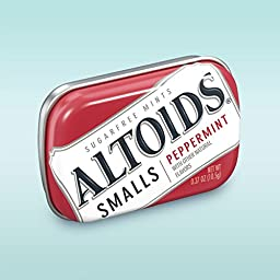 Altoids Smalls Peppermint Sugarfree Mint, 0.37 Ounce, 3 Count