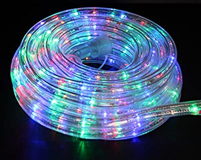 Direct-Lighting 24ft Super Bright Heavy Duty Multi-Color Rope Lights with 288 LEDs - Expandable to 216 Ft.