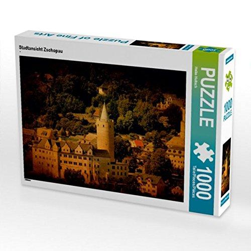 Stadtansicht Zschopau 1000 Teile Puzzle Quer