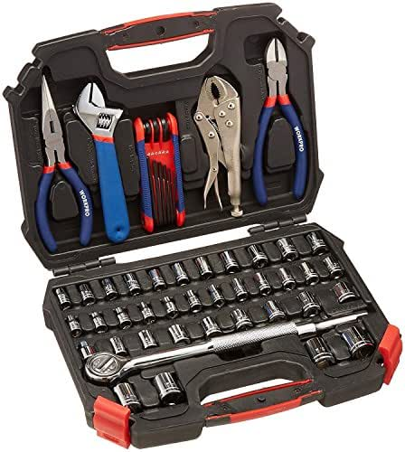 WORKPRO W003020A 52-Piece Hand Tool & Socket Set (Metric & SAE Size, 3/8