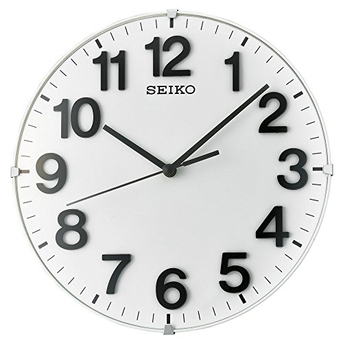 Seiko ' Plastic Wall Clock, Color White (Model: (Seiko White Clock)