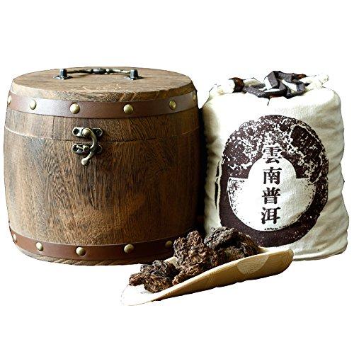 China Tea Yunnan Pu'er tea, Chang Yun old tea, head cooked tea, 600g gift box, wooden pail, post mail by CHIY-GBC ltd