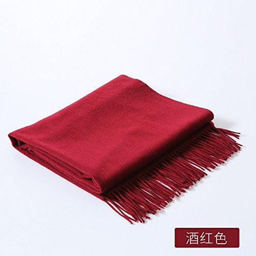 10010 wine red 200cm Landbuda The New Woolen Scarf Autumn and Winter Wild Pure Wool Scarves, Shawls Shawls Flow