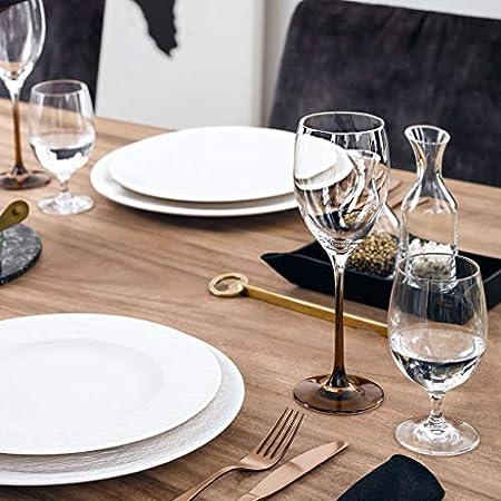 Villeroy & Boch Manufacture Glass Copa de vino blanco, Vidrio de cristal, 0.365 litros, Porcelana Premium