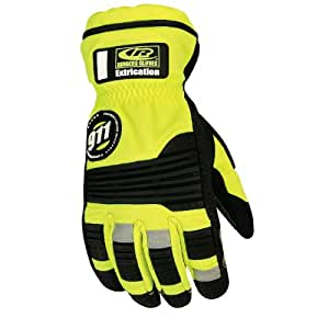 Ringers Gloves 327-11 Hi-Vis Barrier1 Extrication Gloves, X-Large, Green