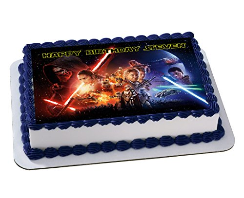 STAR WARS Quarter Sheet Edible Photo Birthday Cake